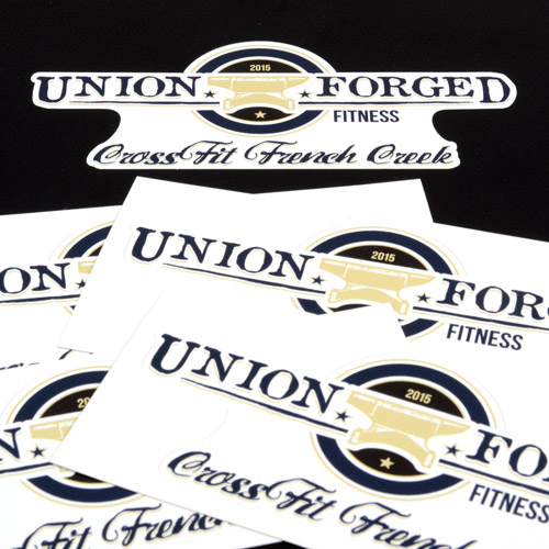 Union Forged Fitness Custom Die Cut Stickers