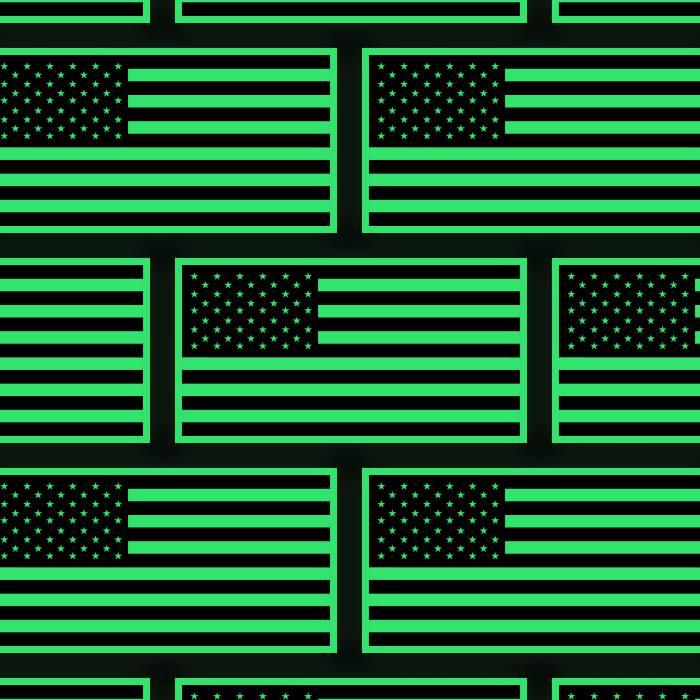 Glow in the Dark USA Flag Sticker