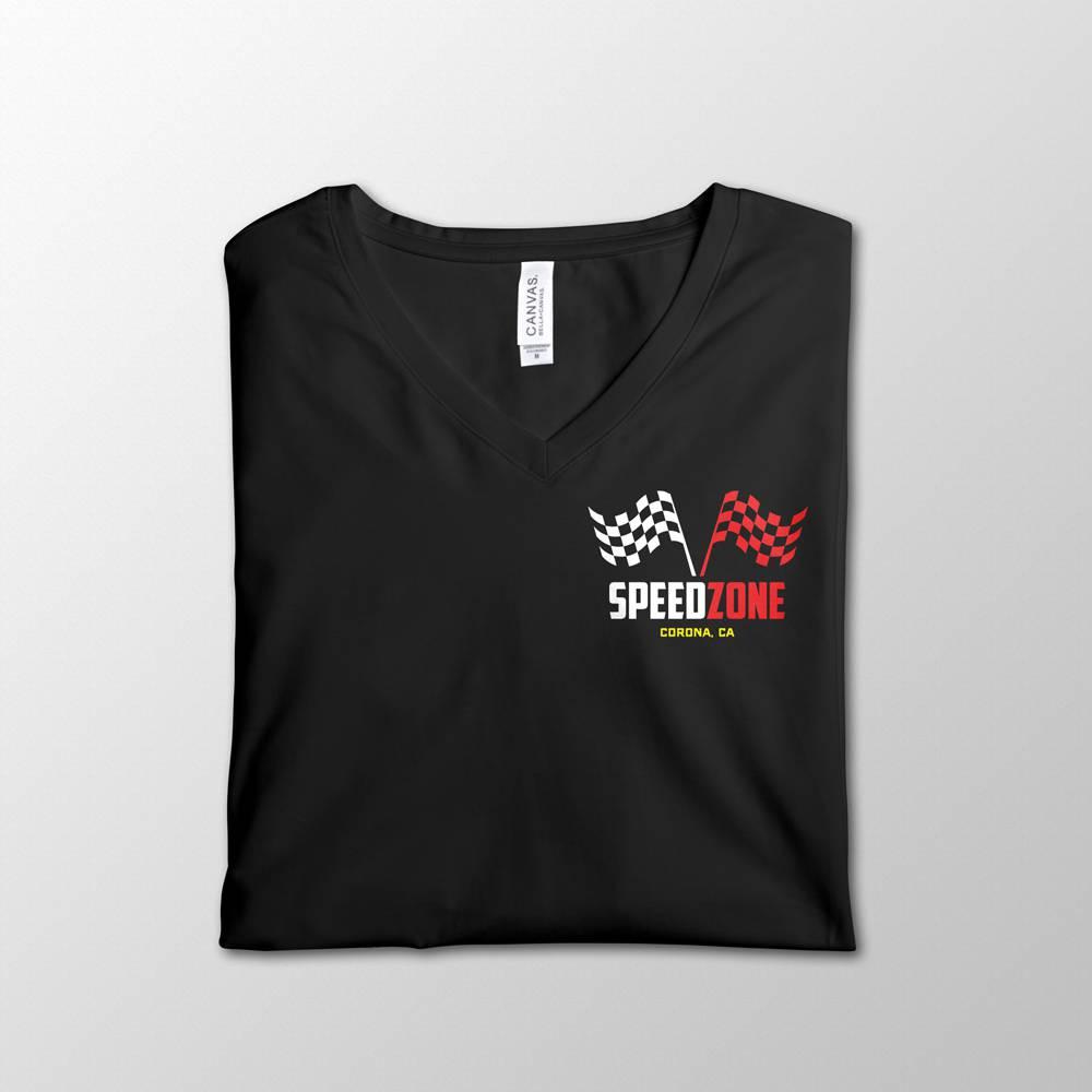 SpeedZone Black V-Neck Design