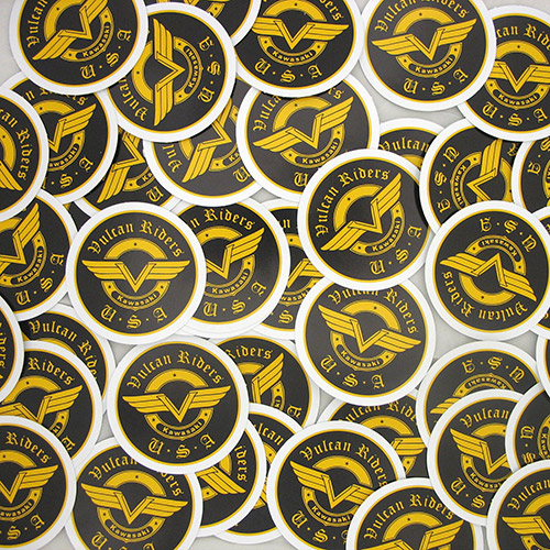 Vulcan Riders Custom Circle Stickers