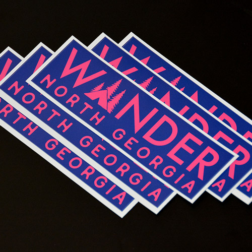 Wander North Georgia Bumper Sticker