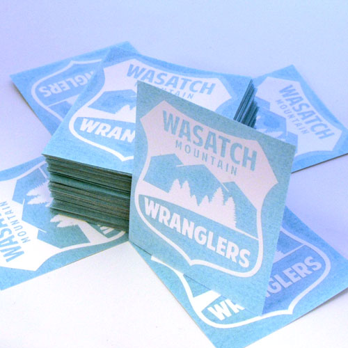 Wasatch Mountain Wranglers Custom Cut-Out Stickers