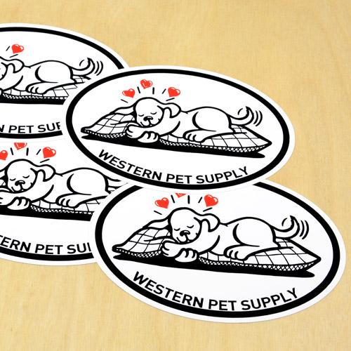 Western Pet Supply Custom Oval Stickers