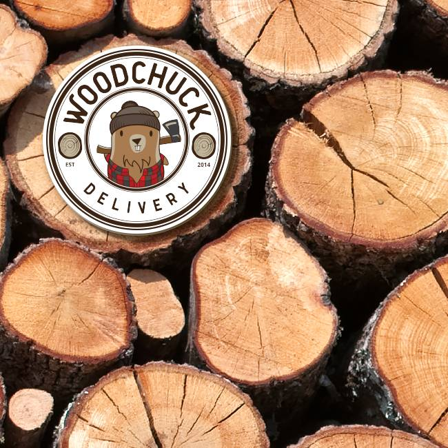 Woodchuck Delivery Circle Stickers