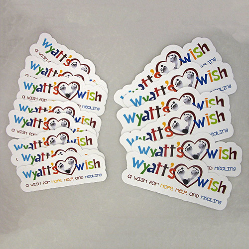 Wyatt's Wish Custom Die Cut Stickers