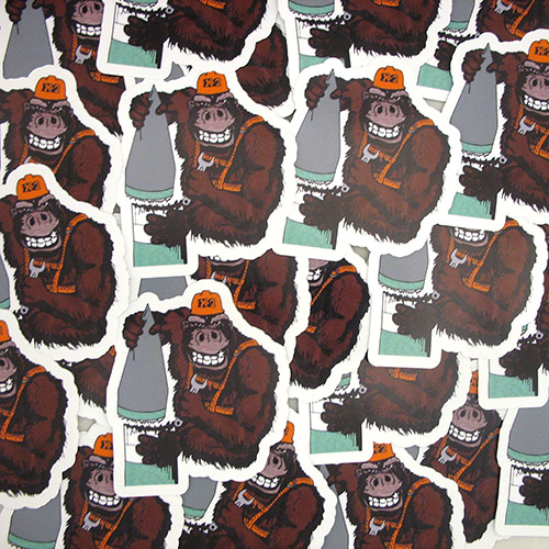 X2 Gorilla Custom Die Cut Stickers