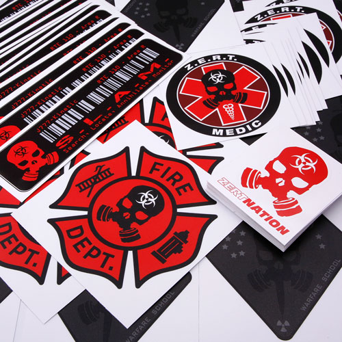 Zombie Eradication Response Team Custom Die Cut Stickers