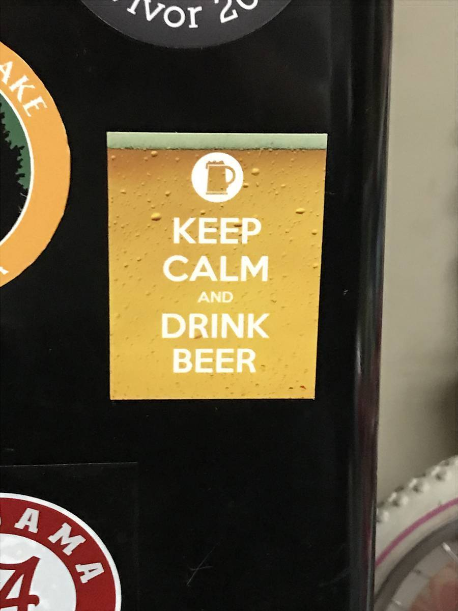 Scott's photograph of their Keep Calm And Drink Beer Sticker