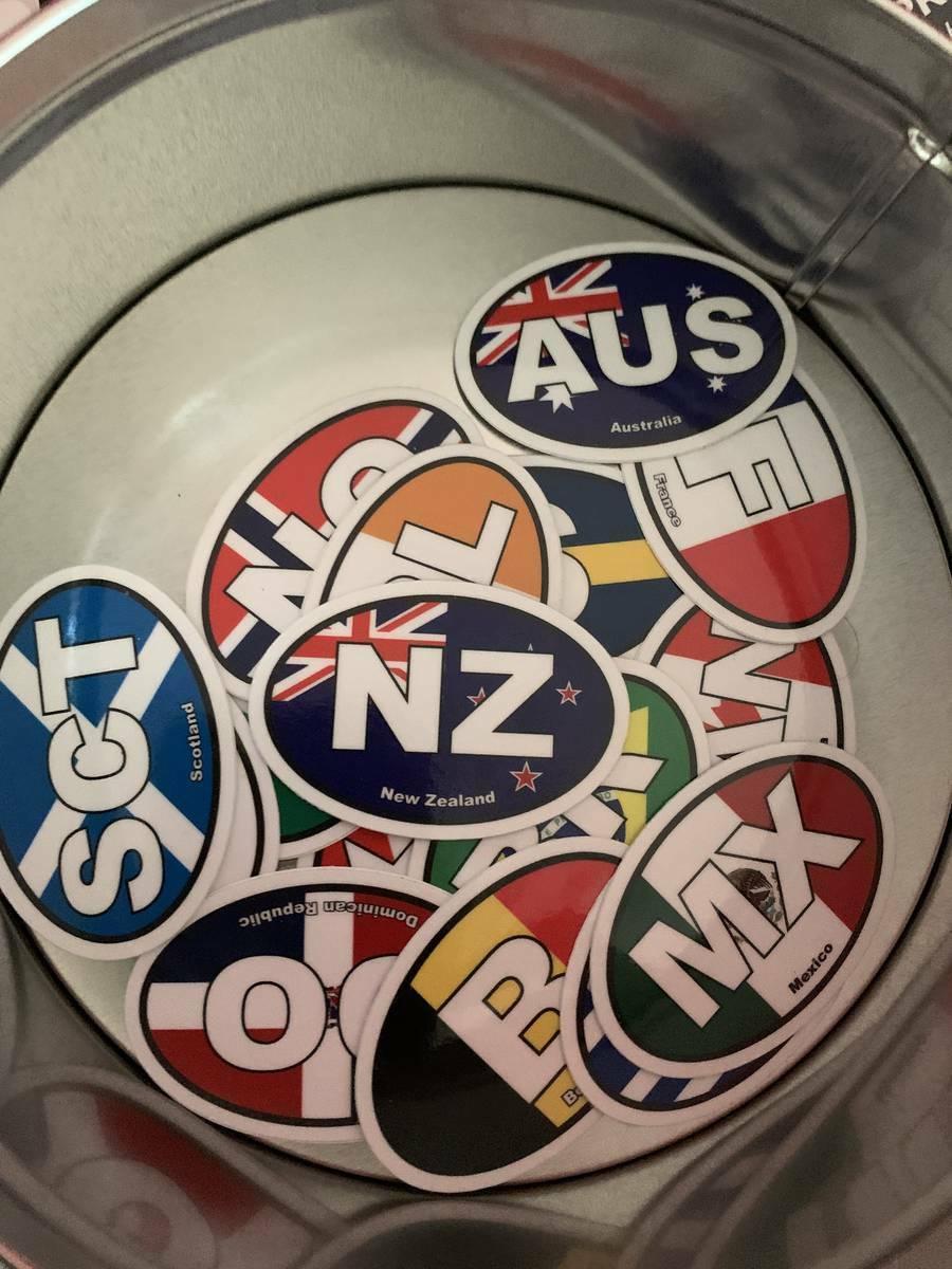 Luke's photograph of their New Zealand Nz Flag Oval Sticker