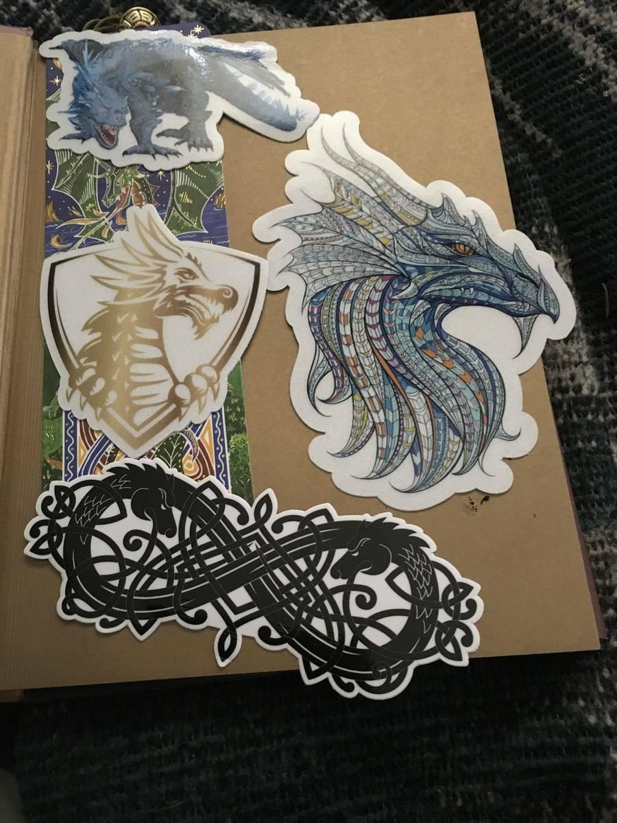 Nicholas's photograph of their Mosaic Dragon Sticker