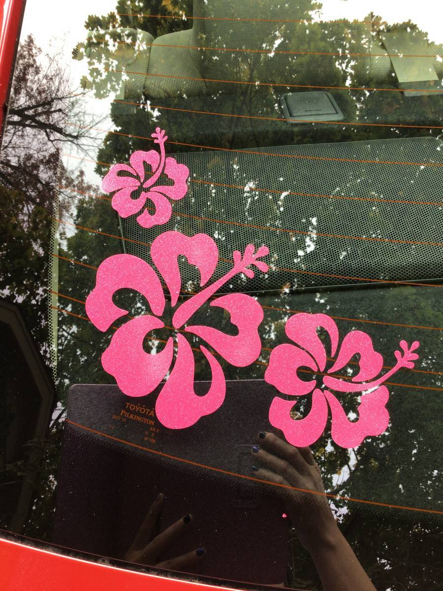 Rebekah's photograph of their Popular Hibiscus Flowers Corner Sticker
