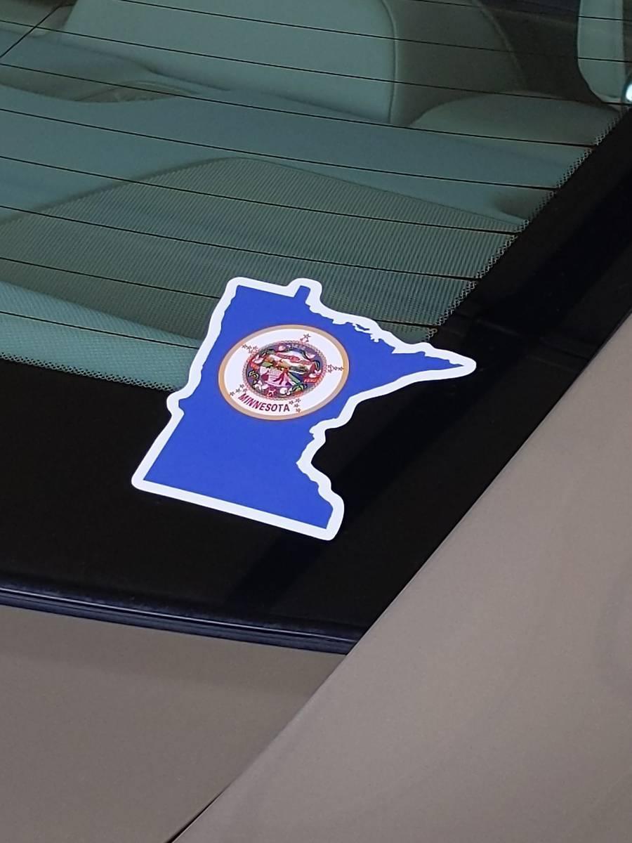 Darin's photograph of their Minnesota Flag State Sticker