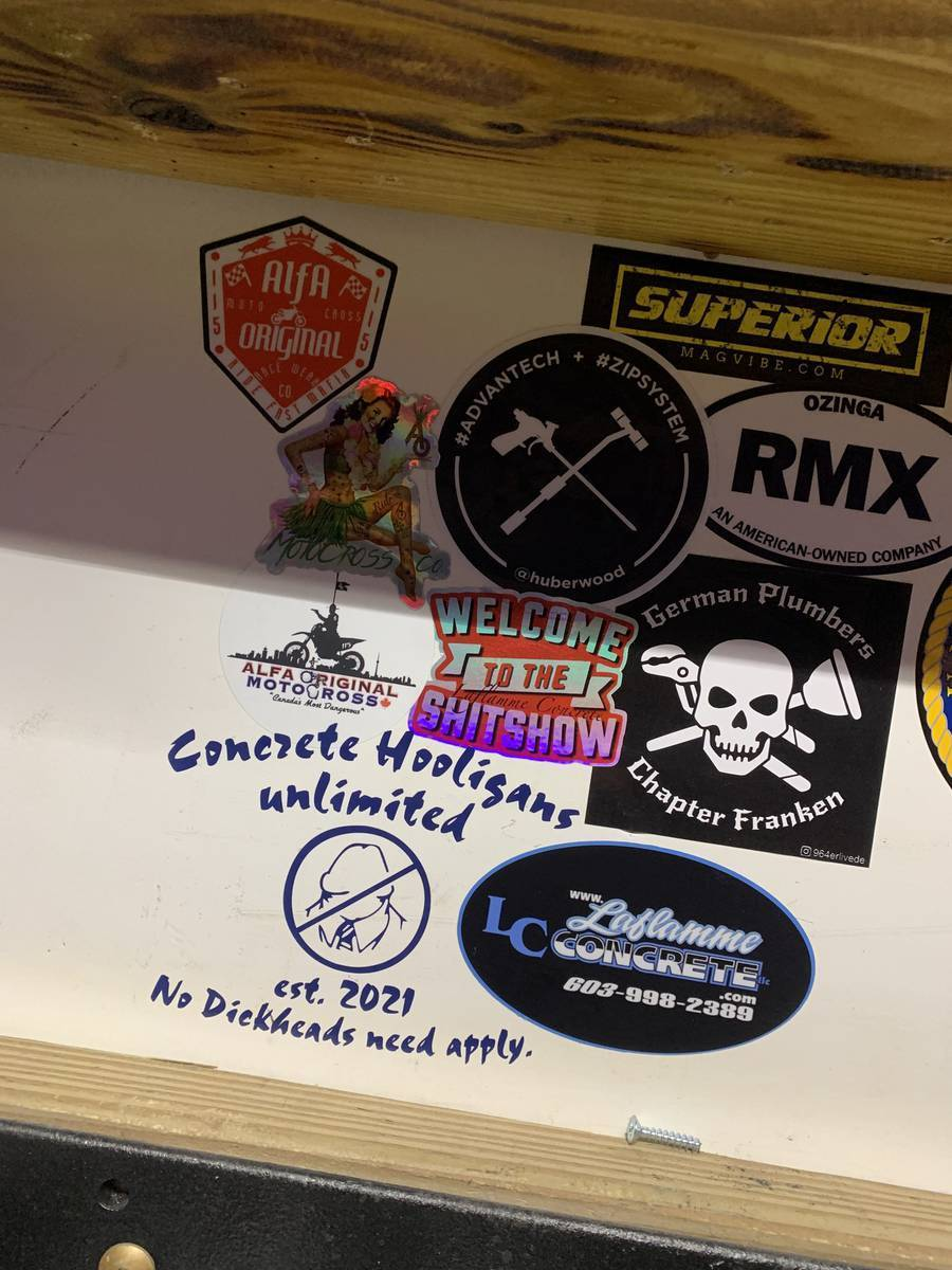 Steve's photograph of their Customizable One-Color Transfer Sticker