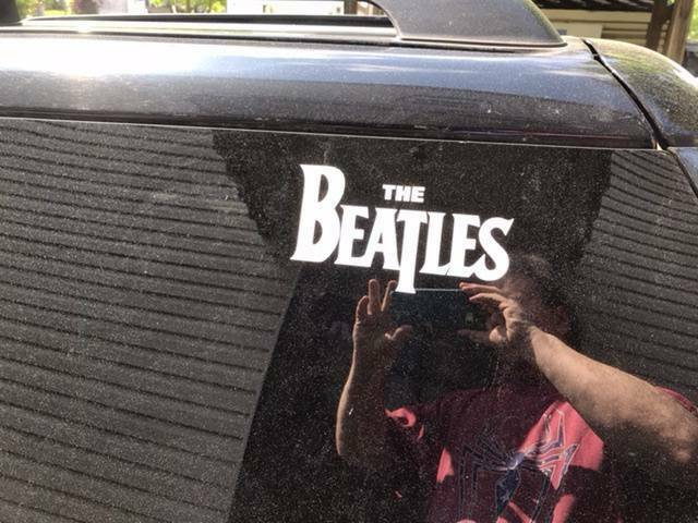 Ron's photograph of their Rolling Stones Sticker