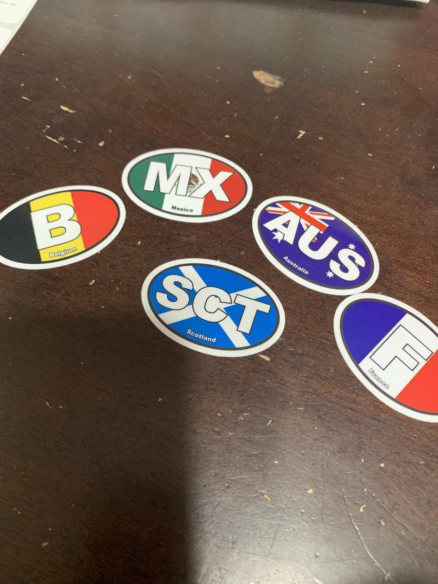 Luke's photograph of their France F Flag Oval Sticker