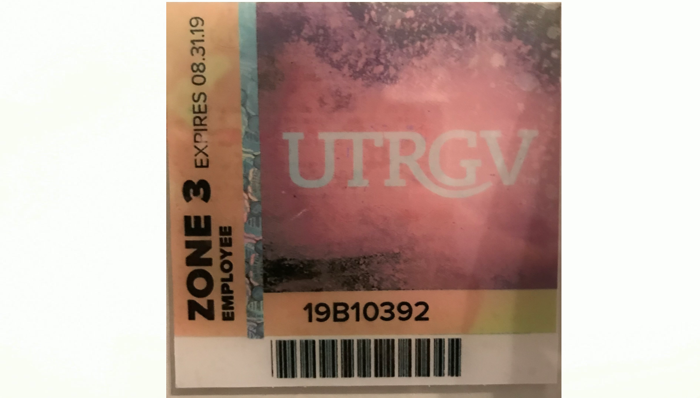 Randy's photograph of their Upload Your Own Parking Permit Design