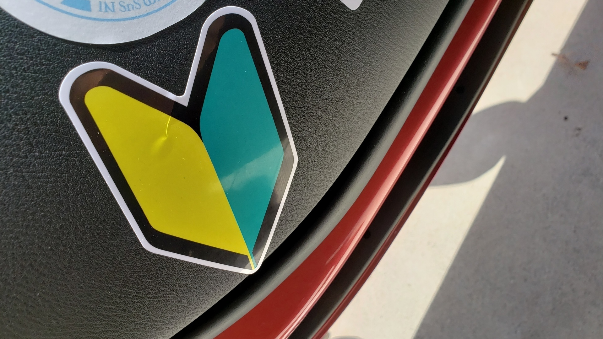 Kenneth's photograph of their Wakaba Mark Japanese Student Driver JDM Arrow Symbol Sticker