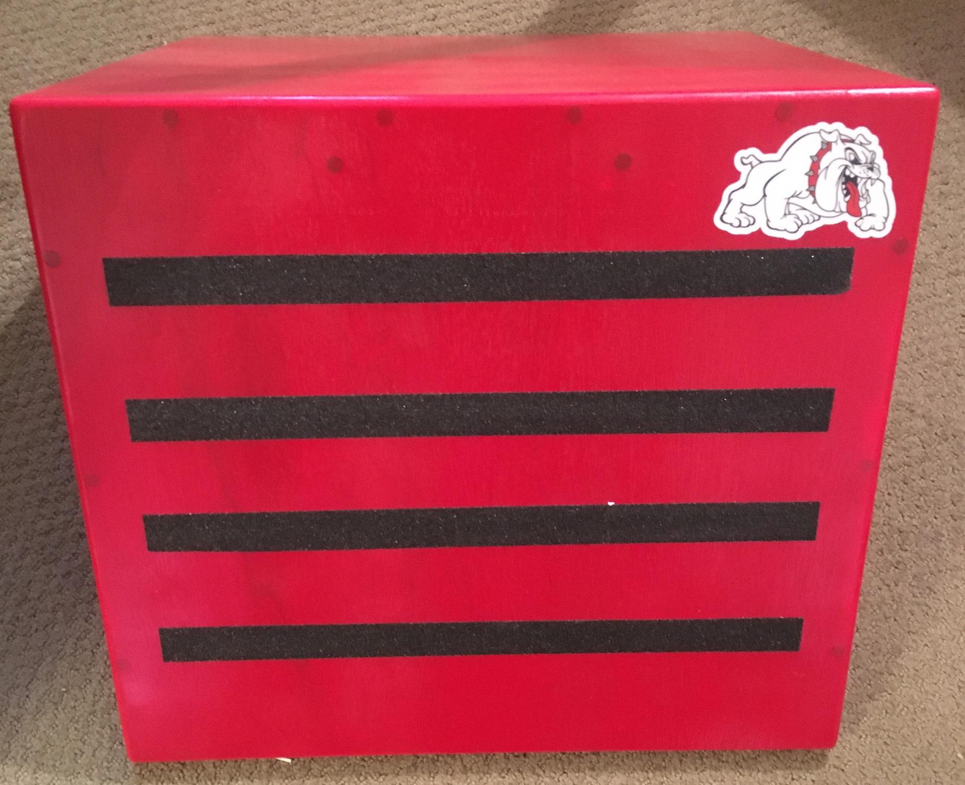 matt's photograph of their White Bulldog Mascot Sticker