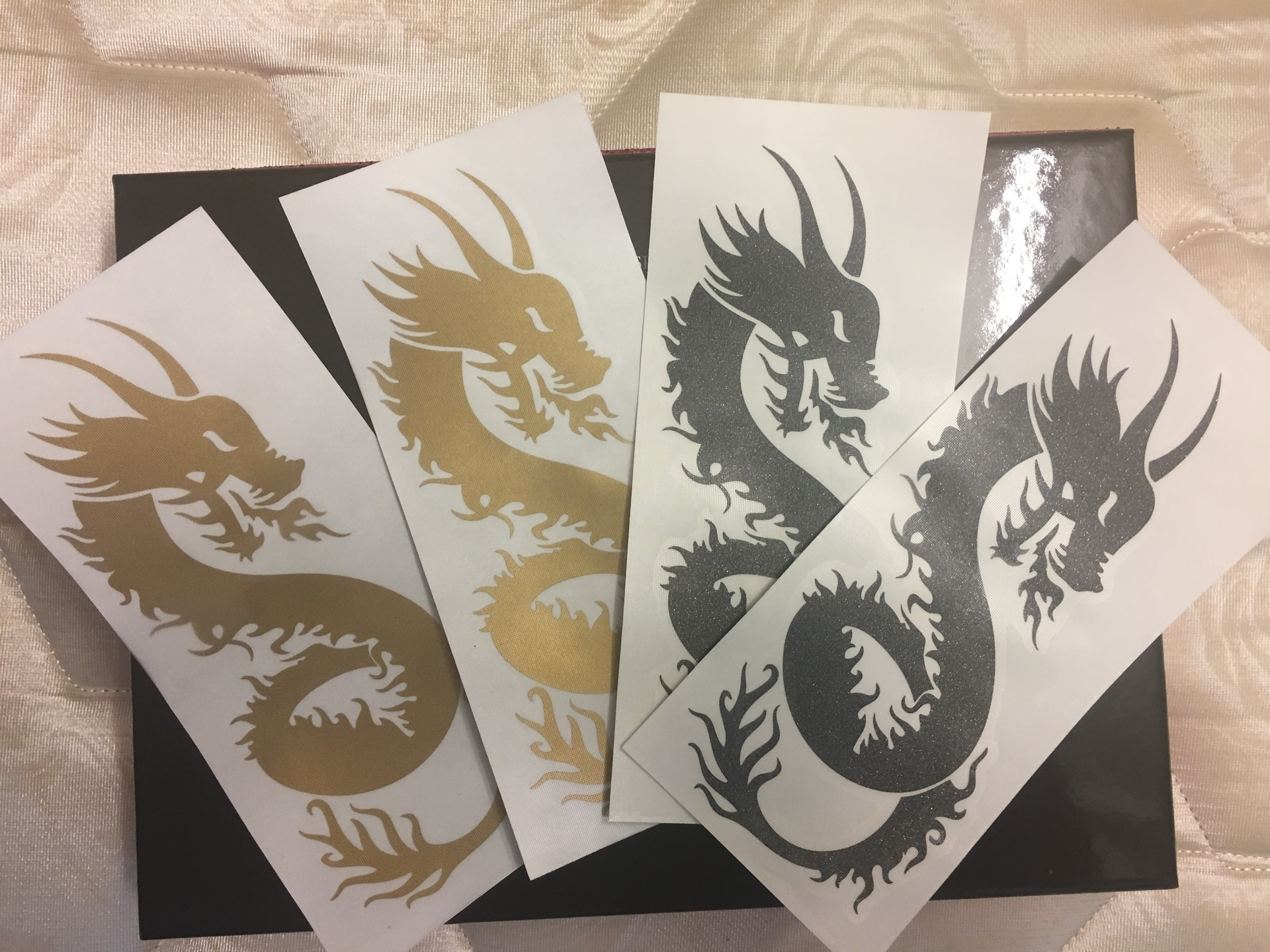 Erin's photograph of their Long Flaming Dragon Sticker