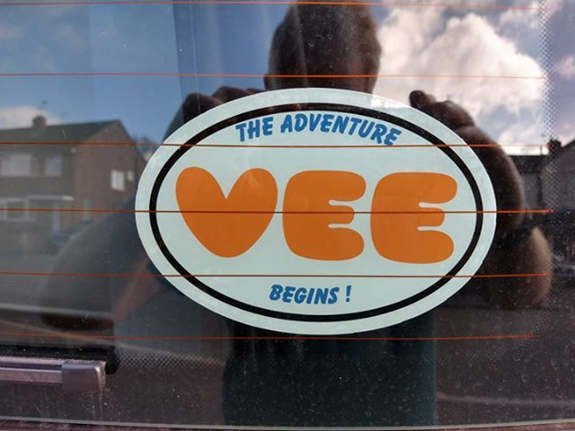 Graeme Young's photograph of their Custom Oval Stickers with Text