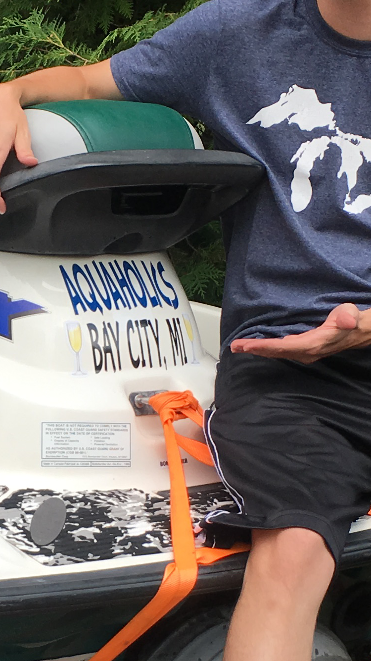 Bryan's photograph of their Boat Name Sticker