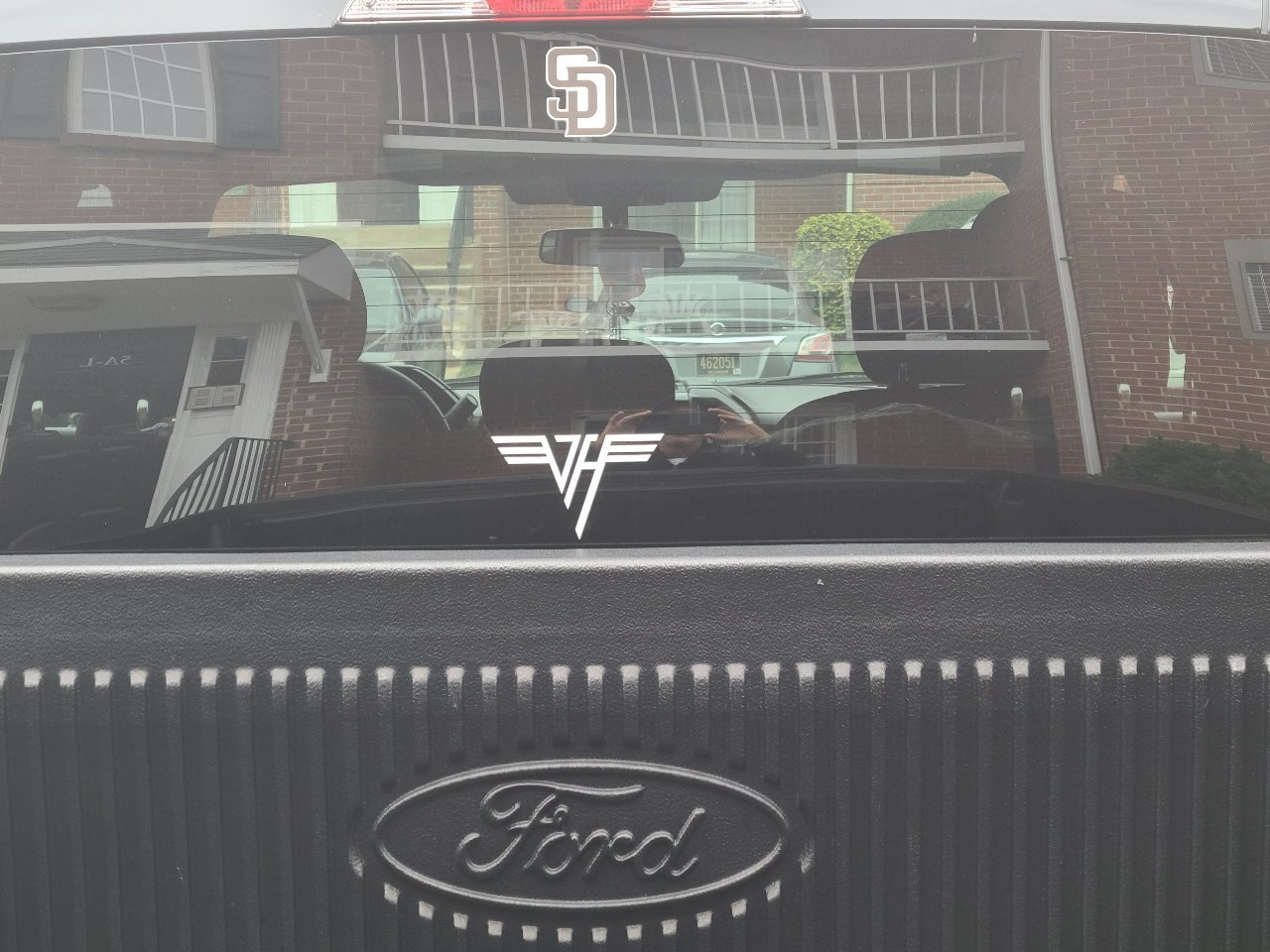 Anthony's photograph of their Van Halen Sticker