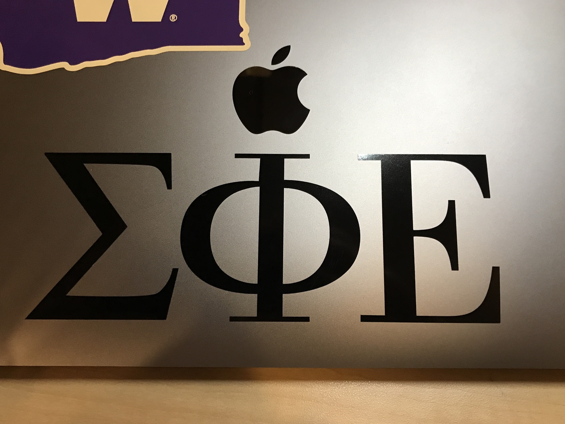 Jon's photograph of their Sigma Phi Epsilon Greek Letters One-Color Cut-Out Sticker