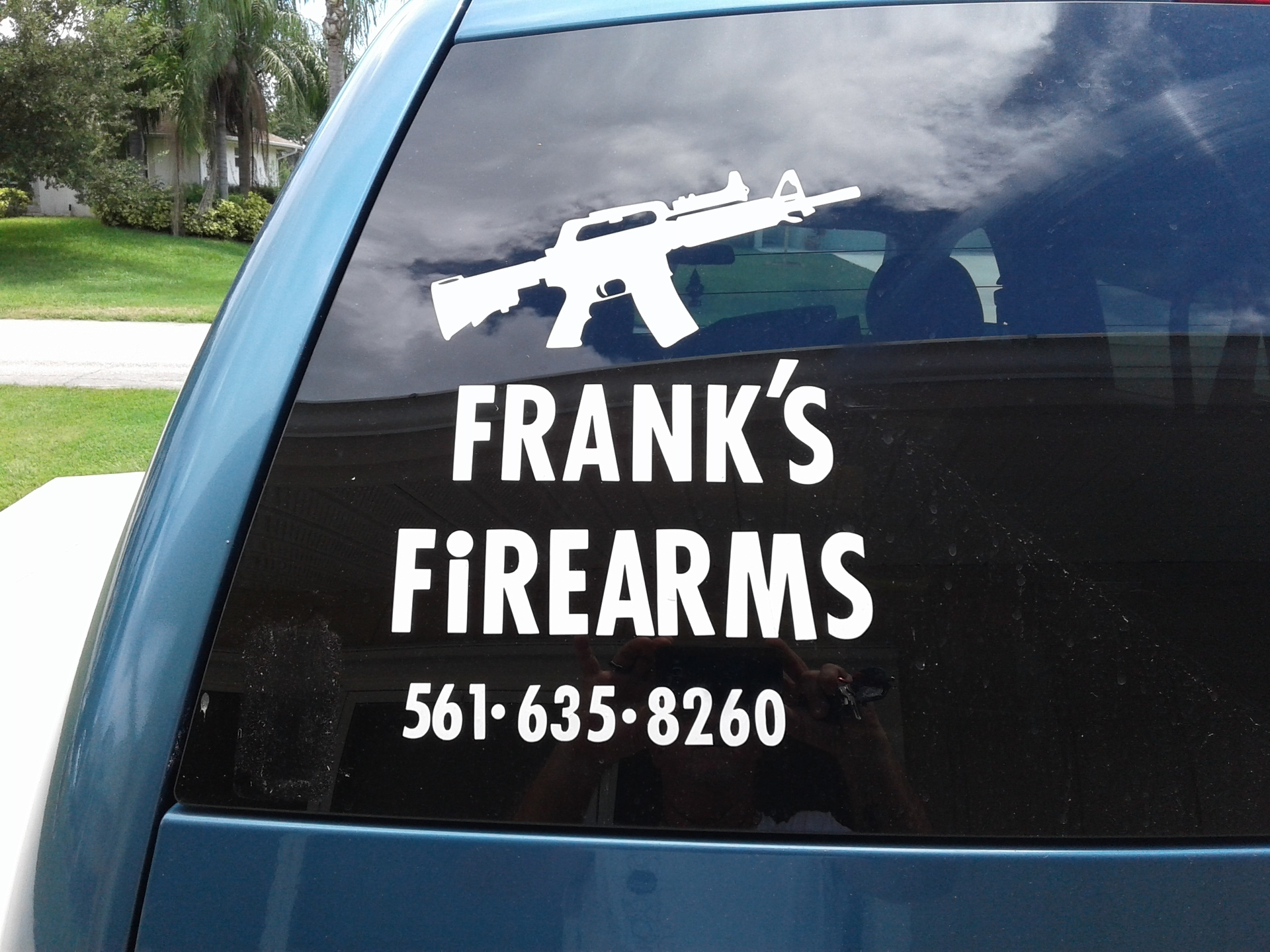 Frank's photograph of their Assault Rifle Gun Sticker
