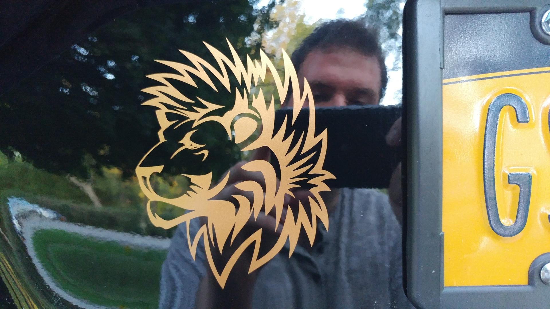 Matt's photograph of their Lion With Furry Mane Sticker