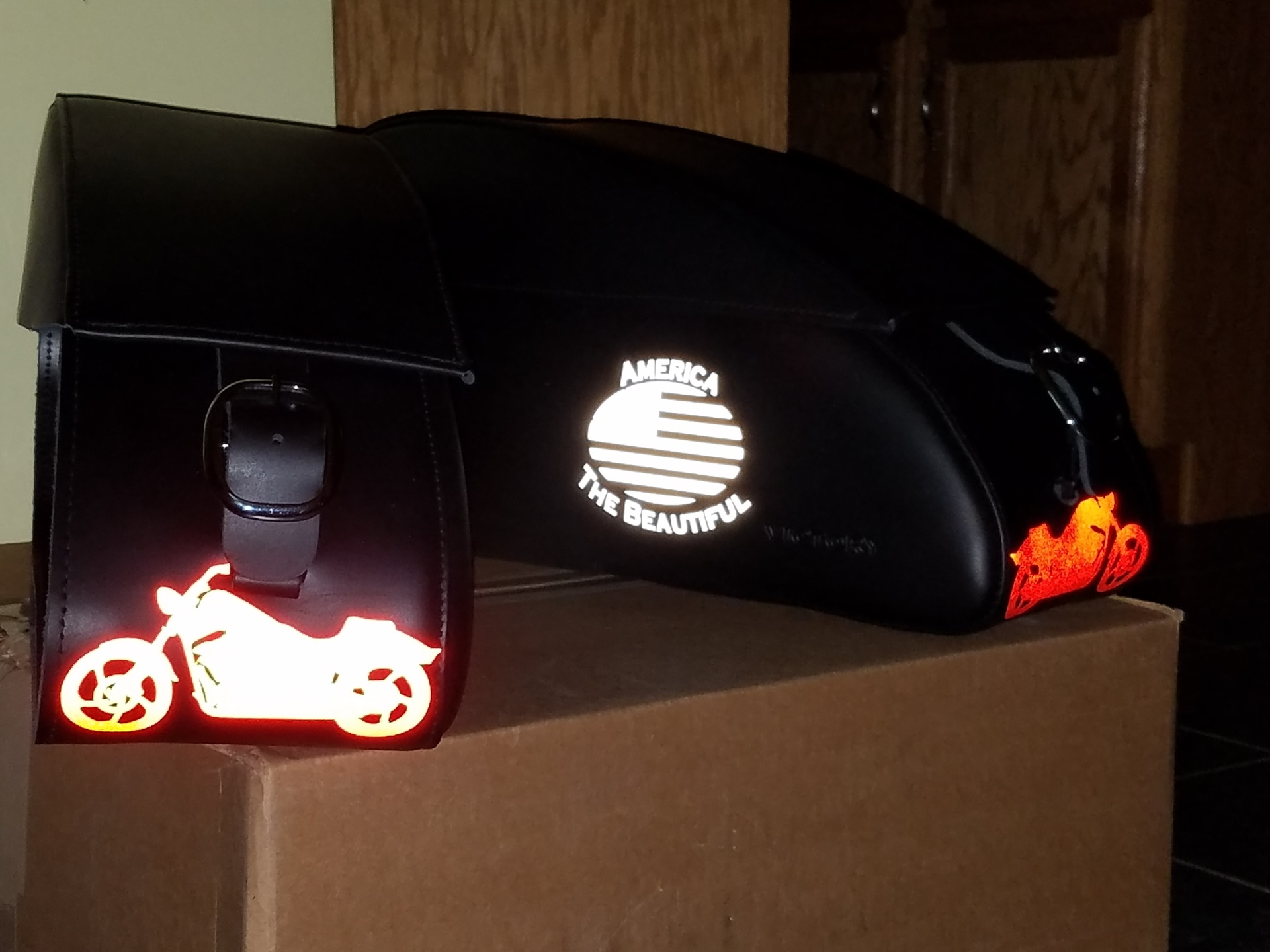 David's photograph of their Swift Motorcycle Outline Sticker