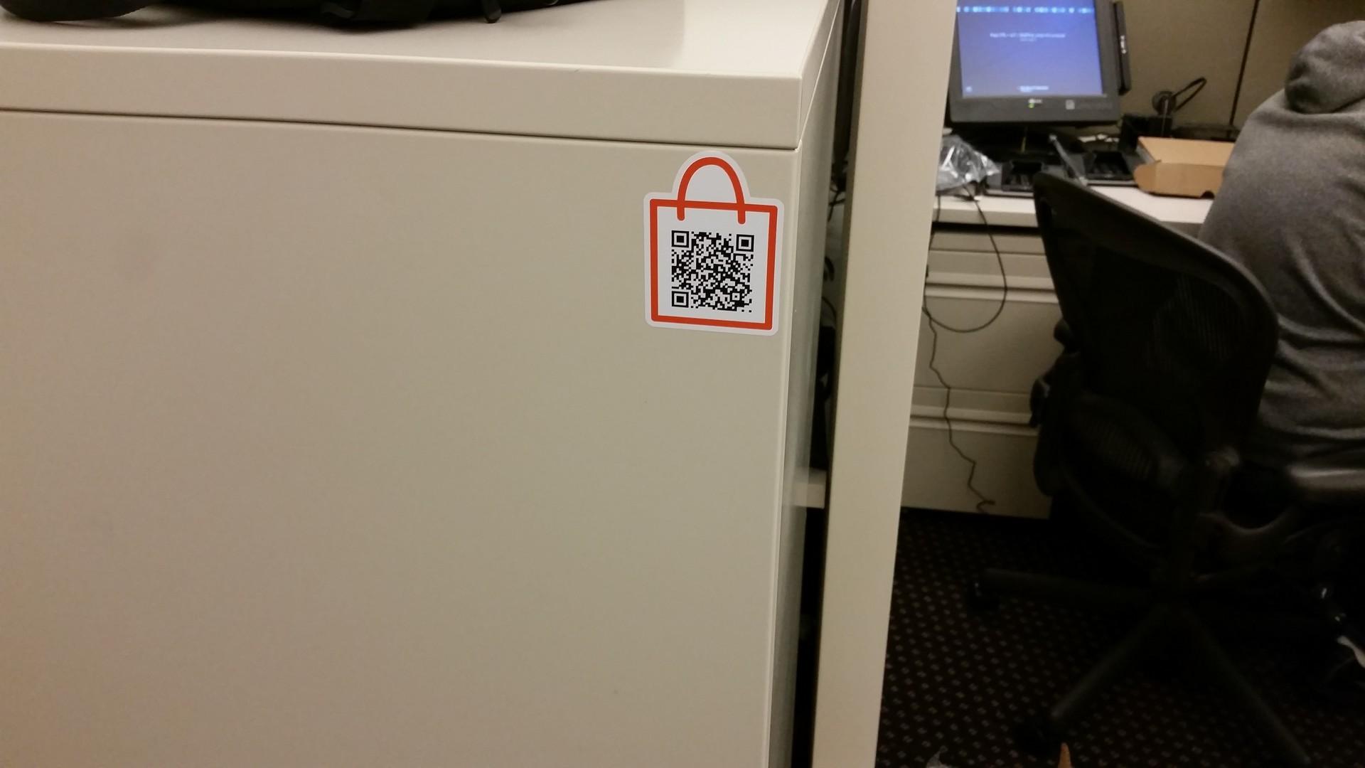Alex's photograph of their QR Code Shopping Bag Template