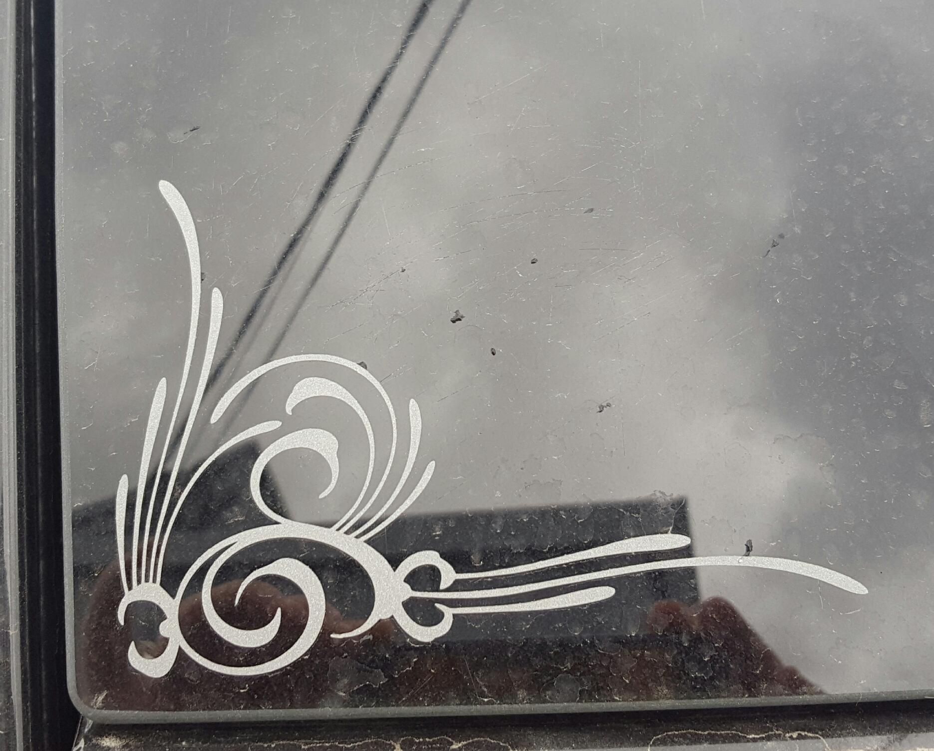Amy's photograph of their Swirly Decorative Corner Sticker