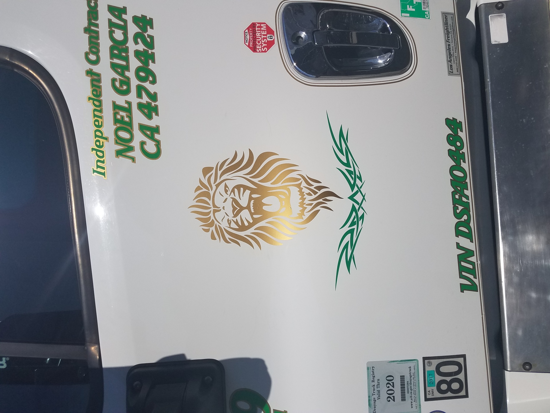 Noel's photograph of their Lion Roaring Sticker
