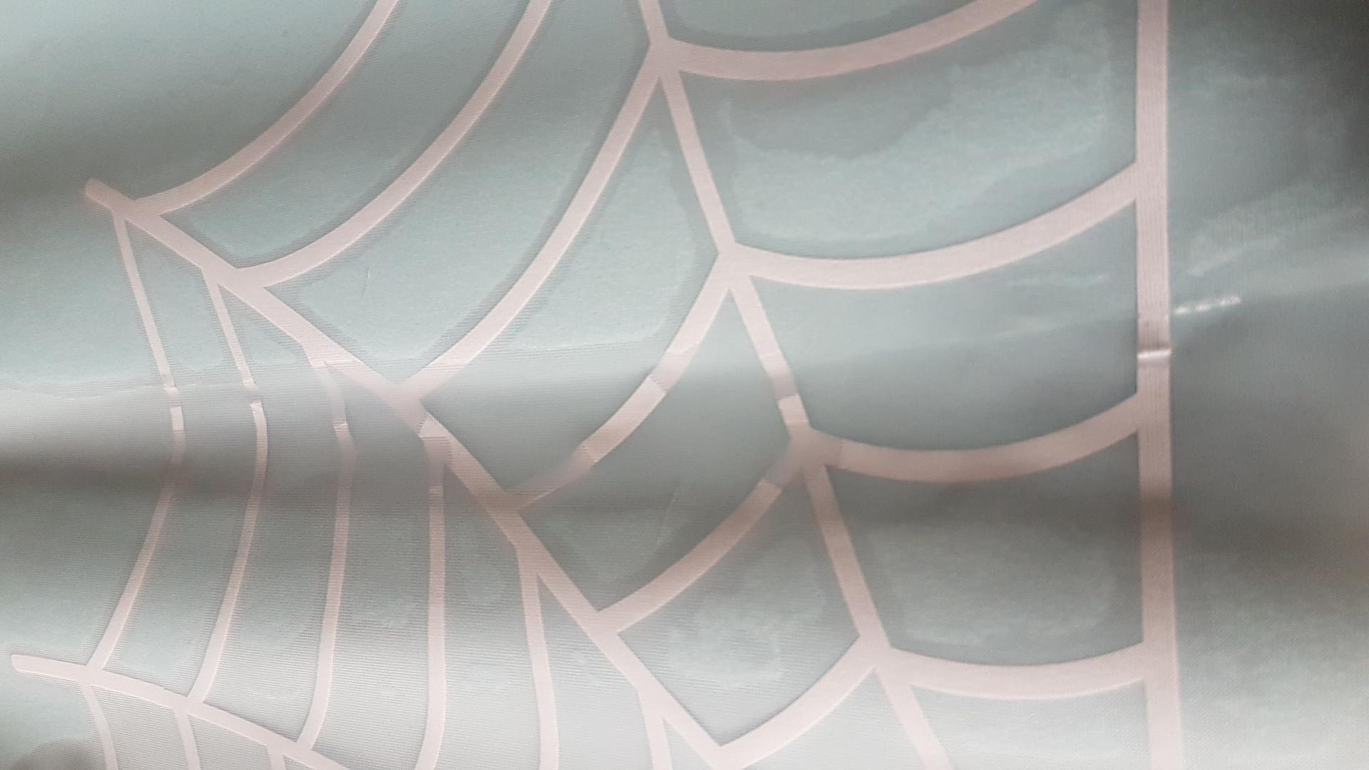Kristin's photograph of their Spider Web Corner Sticker