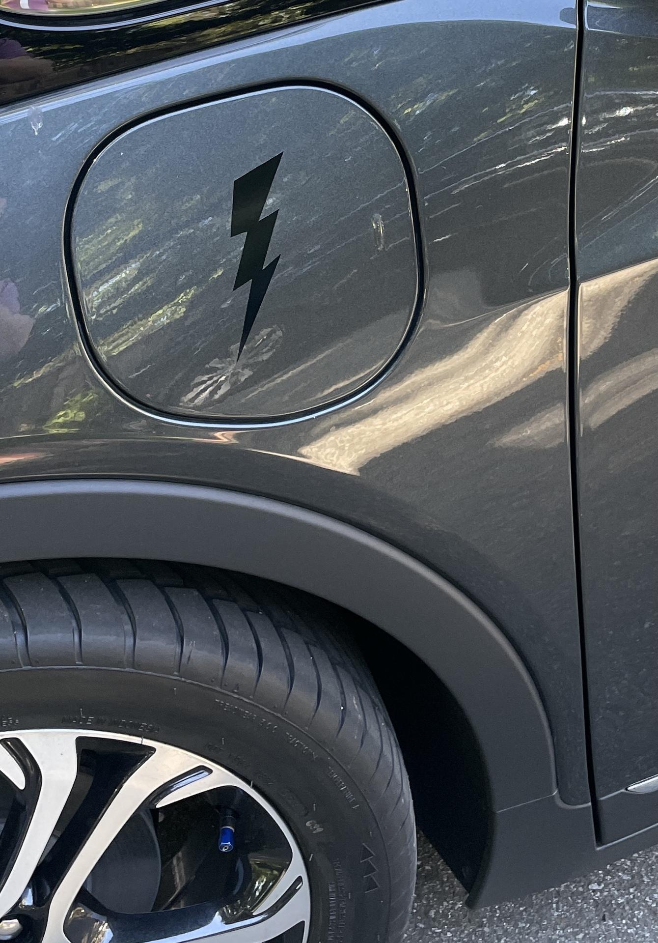Khoi's photograph of their Classic Lightning Bolt Sticker
