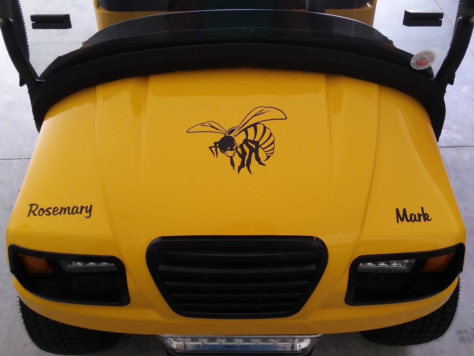 Mark's photograph of their Hornet Bee Sticker