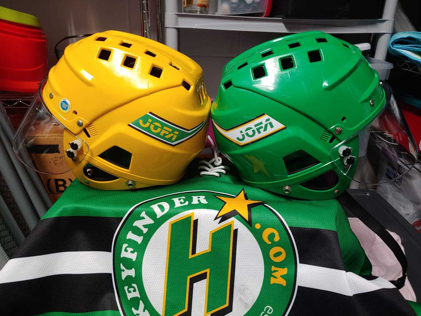 Keith's photograph of their Helmet Stickers