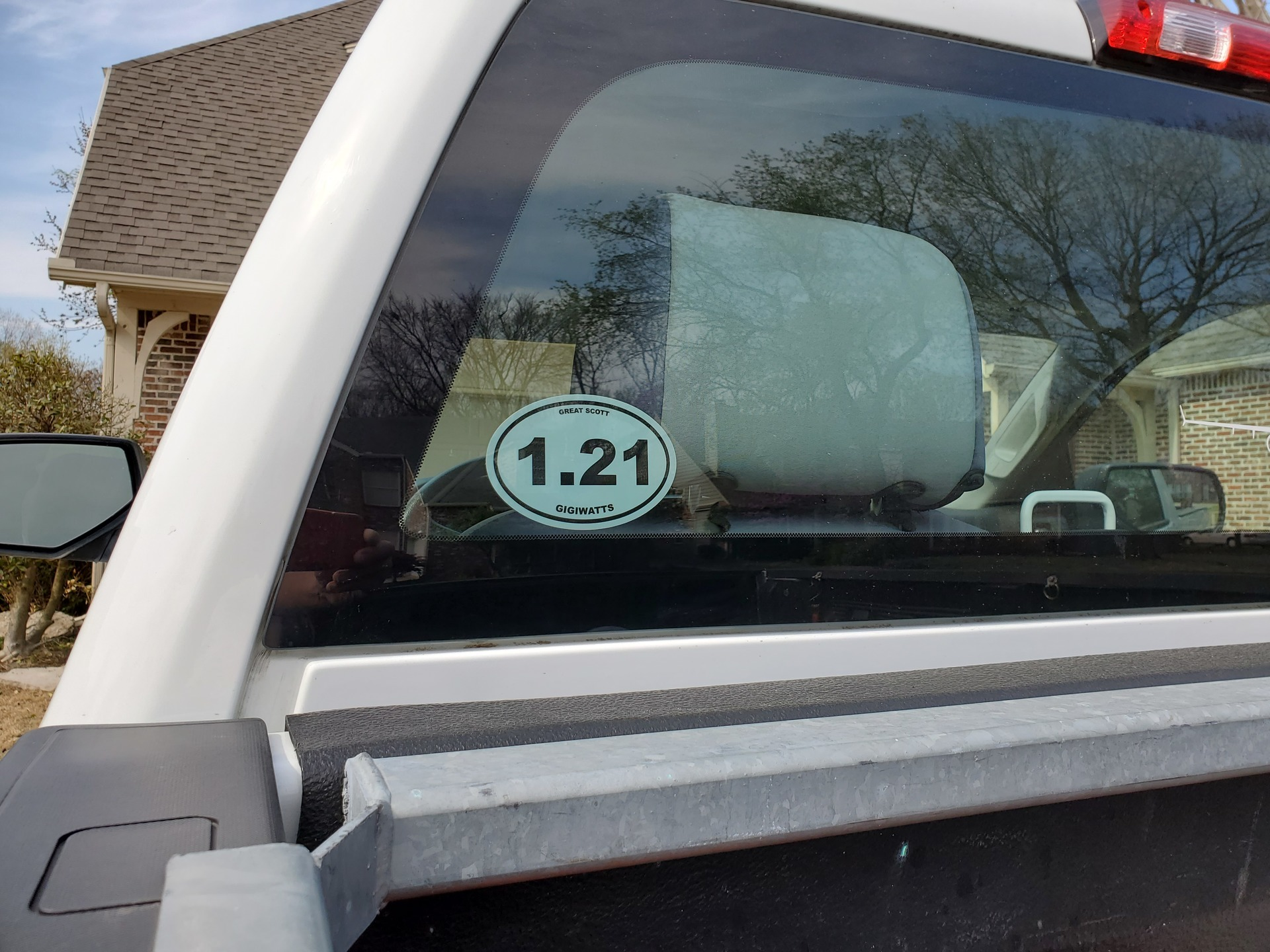 Howard's photograph of their Custom Marathon Oval Sticker with Your Text