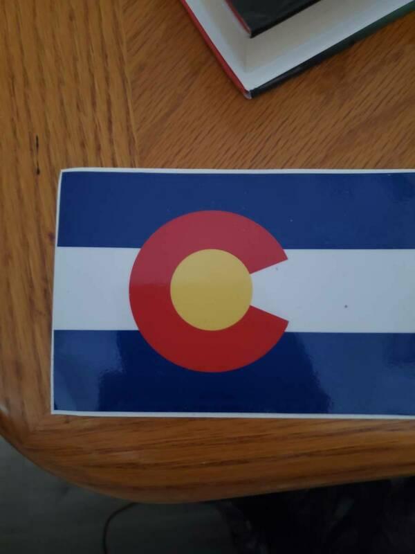 John's photograph of their Colorado Co State Flag Sticker