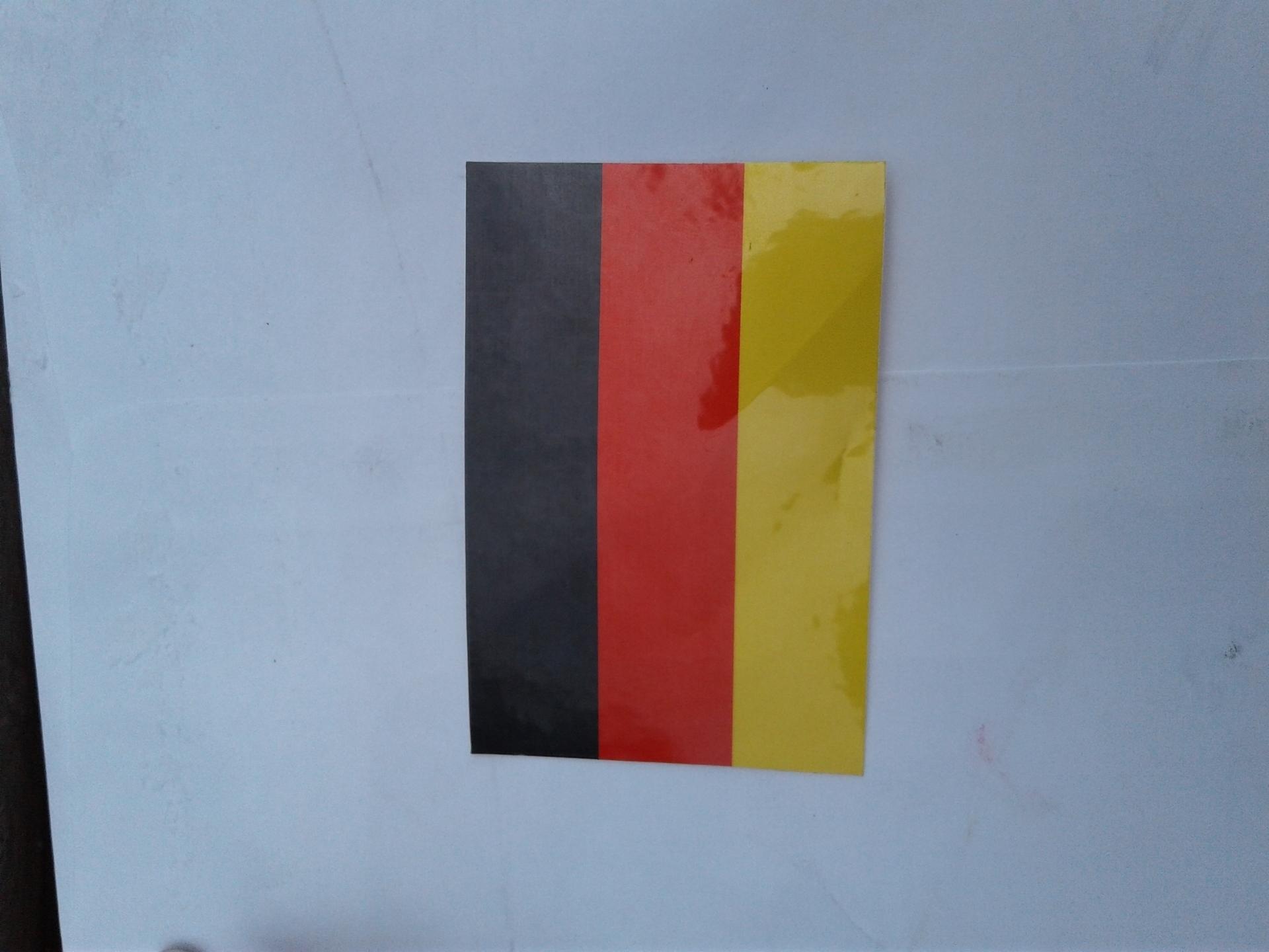 Birgit's photograph of their Germany Flag Sticker