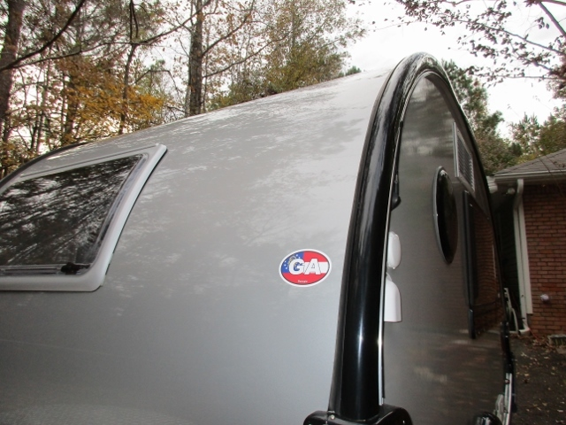 Charles's photograph of their Georgia Ga State Flag Oval Sticker