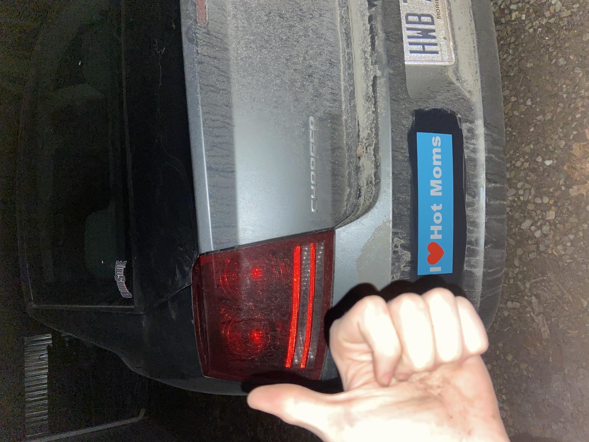 Nick's photograph of their Bumper Sticker Maker