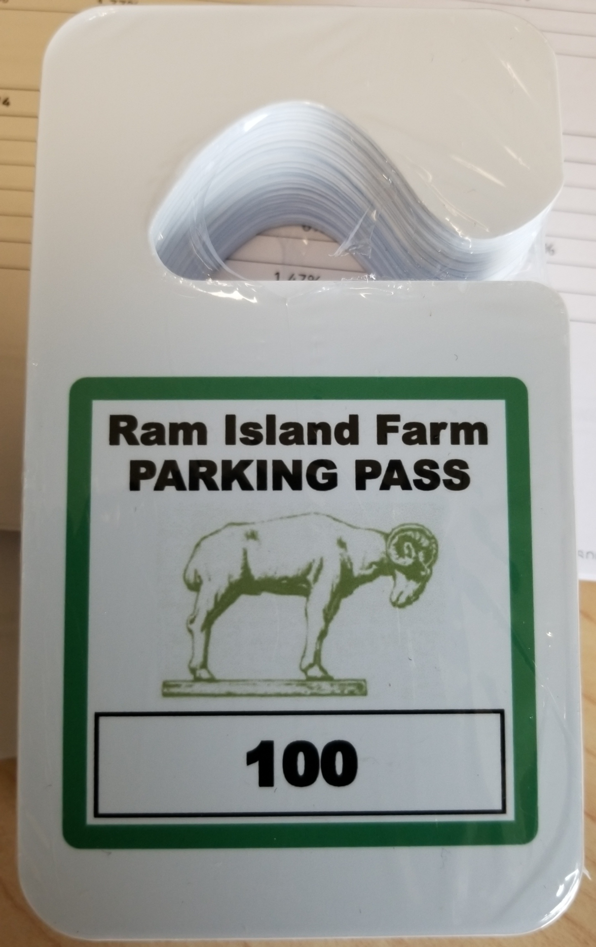 Claudia's photograph of their Custom Standard Hang Tag Parking Permit
