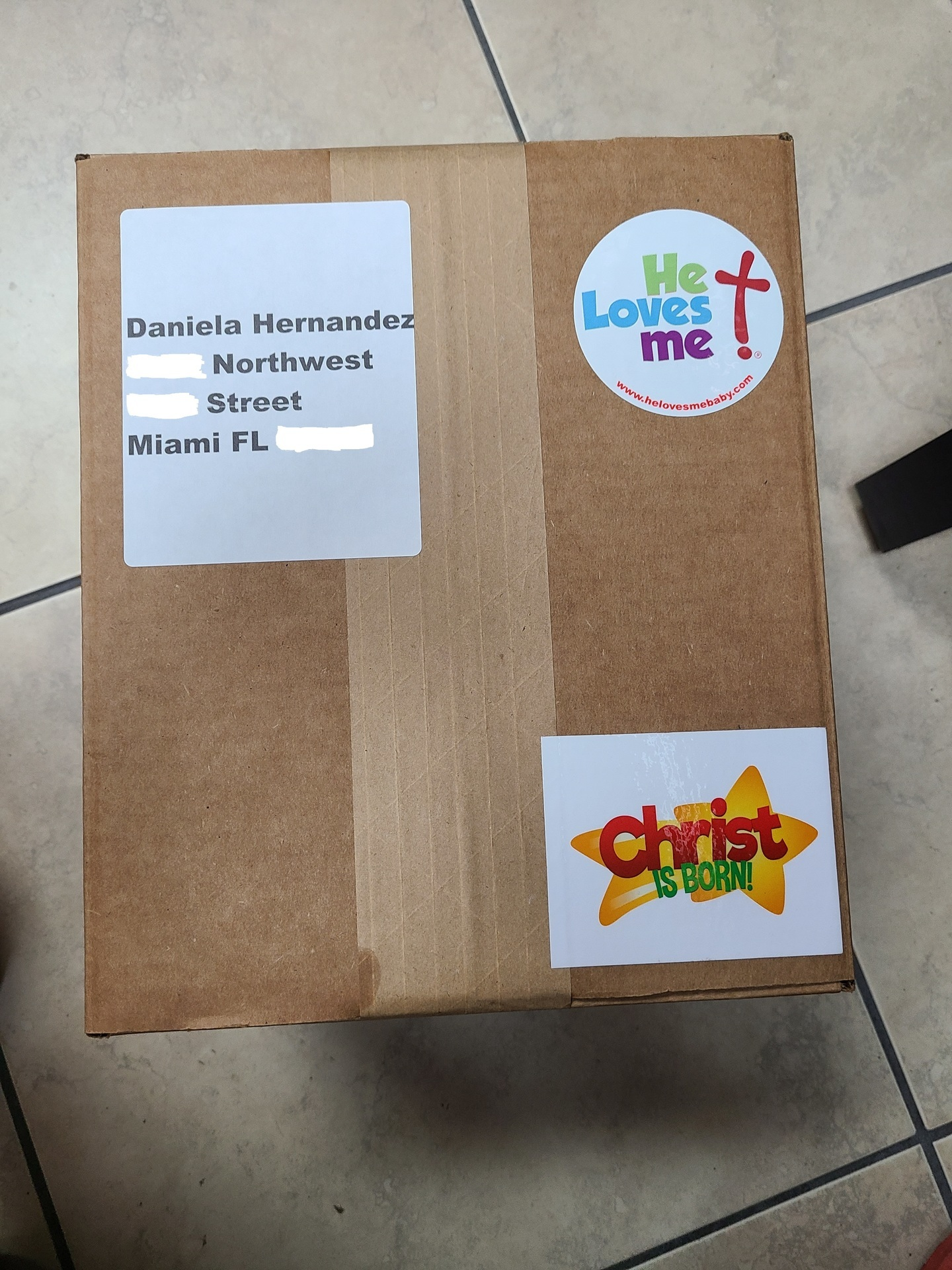 JAVIER's photograph of their Rectangle Stickers