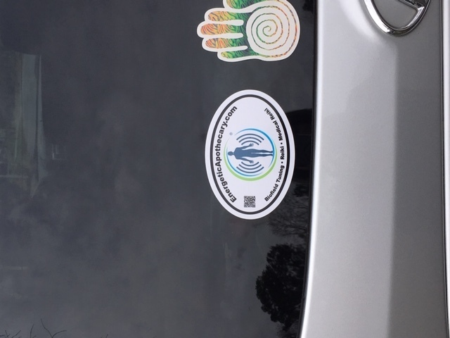 Tamara's photograph of their Custom Oval Sticker with Clipart