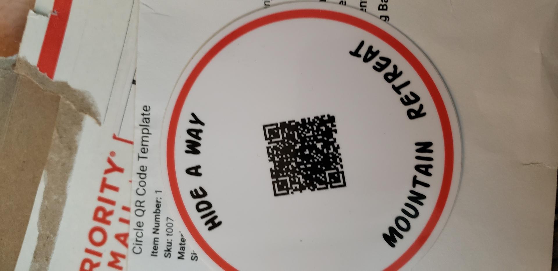 Matthew's photograph of their Circle QR Code Template