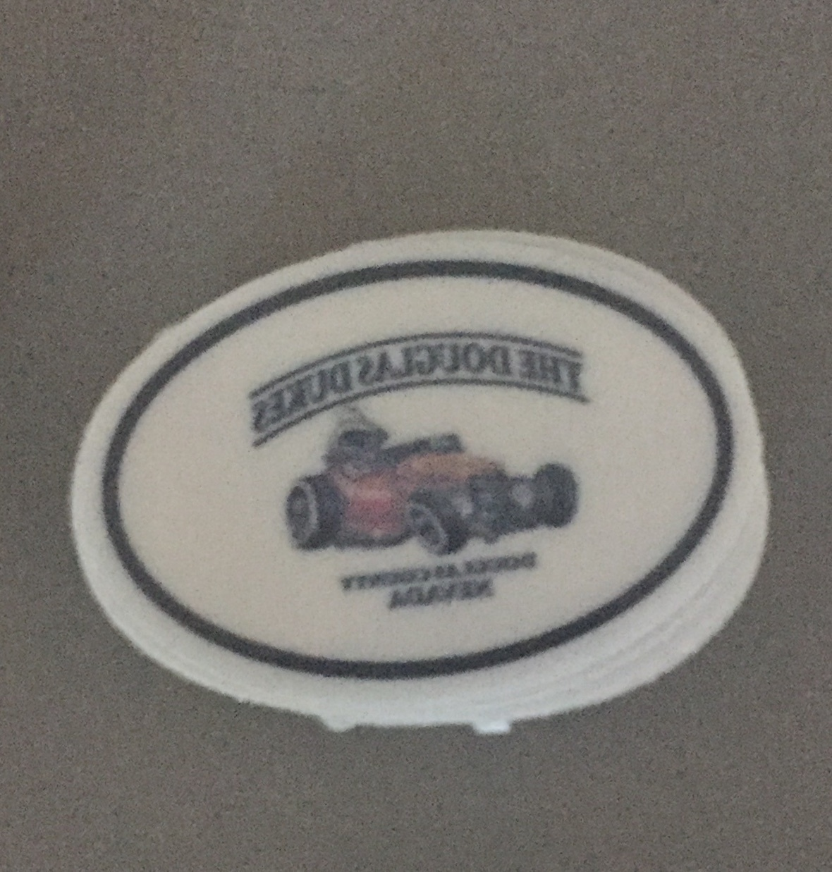 Rich's photograph of their Front Adhesive Stickers