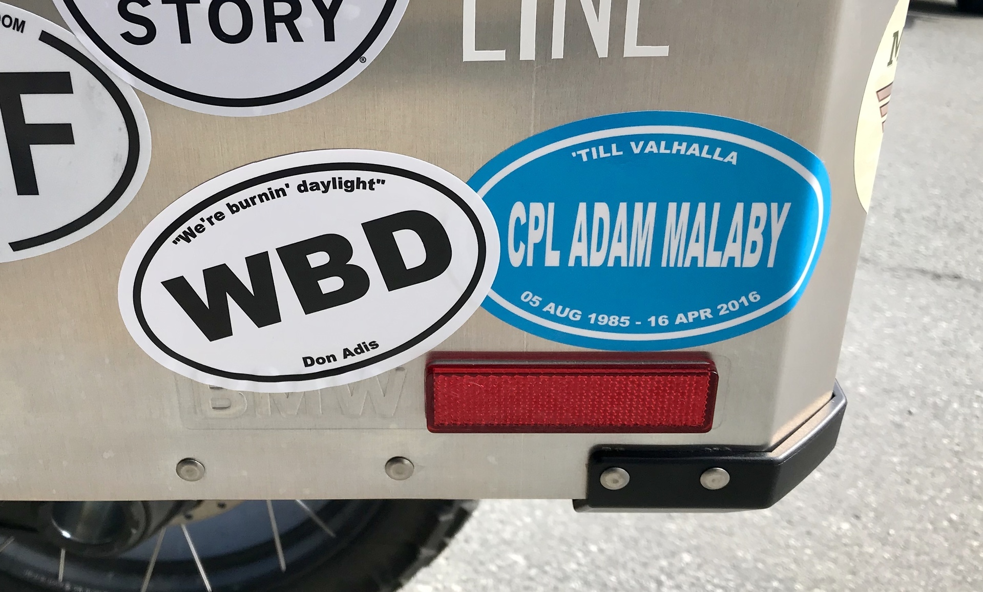 Stephen's photograph of their Custom Printed Oval Stickers