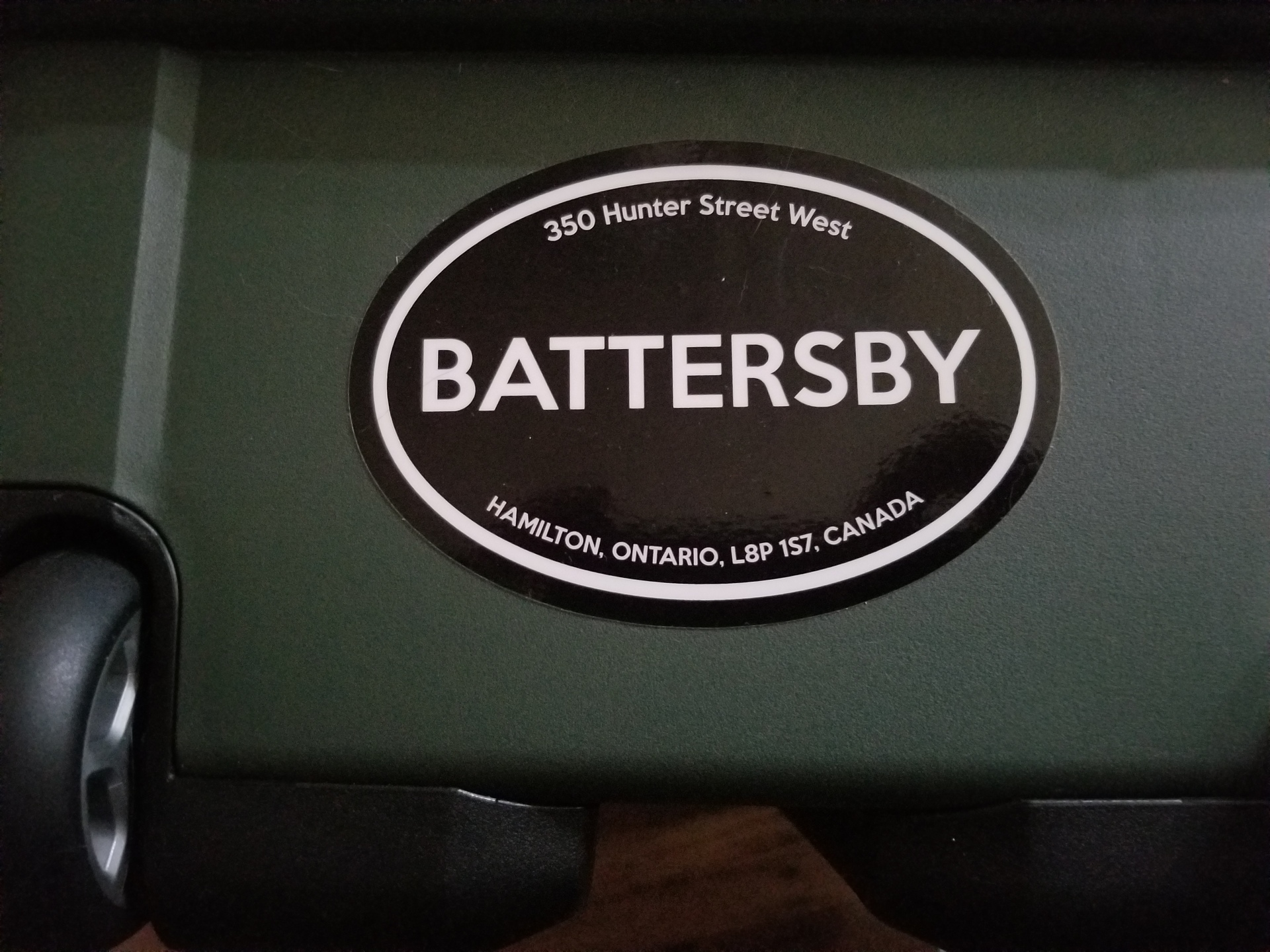 Shane Drew's photograph of their Custom Oval Stickers with Text