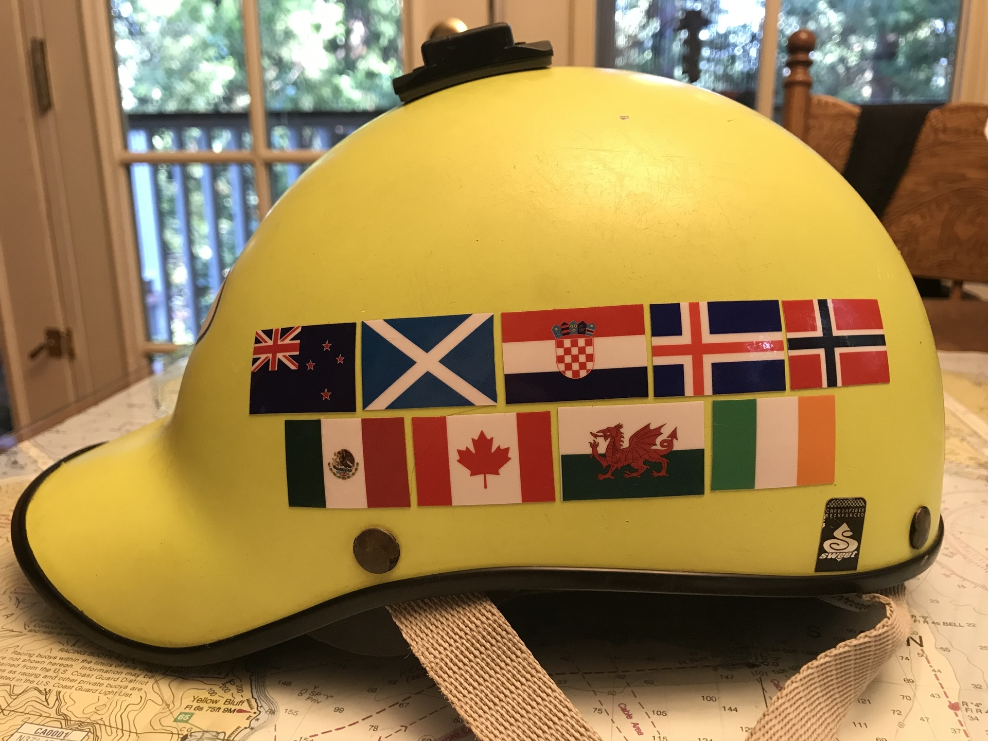 Donna's photograph of their Helmet Stickers